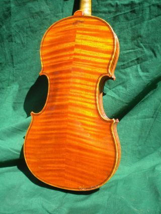 Old/antique Lyon&healy Violin 4/4 Highly Flamed Maple Back And Sides C.  1900 - 30 photo