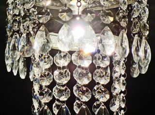Retro Style Chandelier Light Ceiling Pendant Glass Drops Crystals Droplets Bn photo