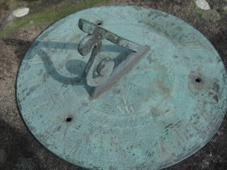 Antique Bronze Sundial