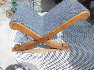 Antique Gout Stool Rocking Foot Rest photo