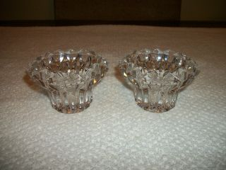 Stunning Vtg 1930 ' S Antique Lead Crystal Starburst Candle Holders/gorgeous Cond. photo