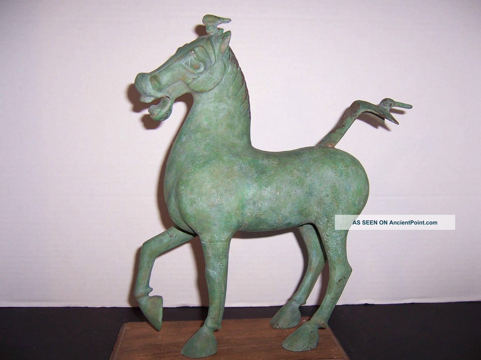 Signed Bronze 1977 Celestial Horse Of Kansu Gansu Alva Museum Replica Ltd Edn. Reproductions photo
