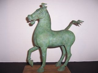 Signed Bronze 1977 Celestial Horse Of Kansu Gansu Alva Museum Replica Ltd Edn. photo
