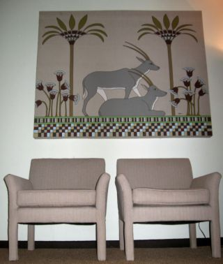 Pair Mid Century Modernist Upholstered Club Side Chairs photo