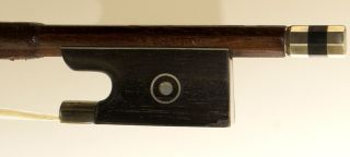 Very Good Antique German Violin Bow Stamped Sandner - photo