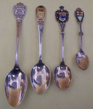 4 Sterling Silver Canadian Spoons - Souvenir Commemoratives - Coats Of Arms++ photo