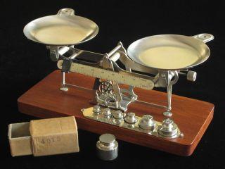 Antique Eastman Kodak Studio Chemical Scale Avoirdupois Weights & Pans photo