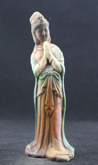 Oriental Vintage Handwork Porcelain Rare Buddha Sculpture Guanyin ▃▄▅▆ █ photo