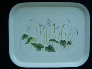 Vintage Italian Florintine Decorative Wooden Tray Hand Painted photo