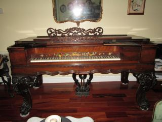 1853 G & H Barmore Square Baby Grand Piano photo