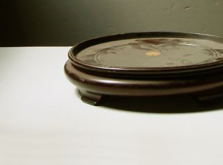Antique Chinese Large Carved Wood Stand photo