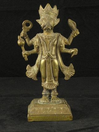 Varaha - Indian Bronze – Wonderful Sculpture - 19th Century photo