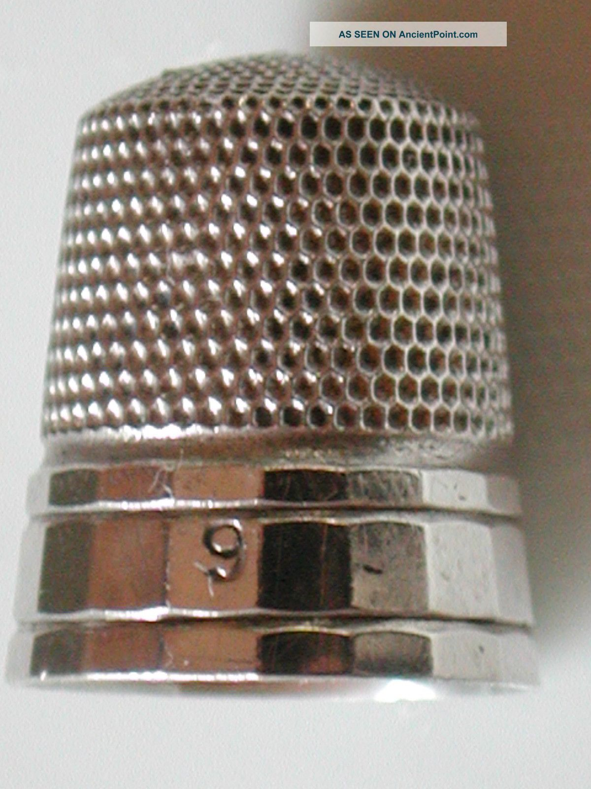 Antique Sterling Silver Simons Brothers.  Hallmarked Panaled Thimble Thimbles photo