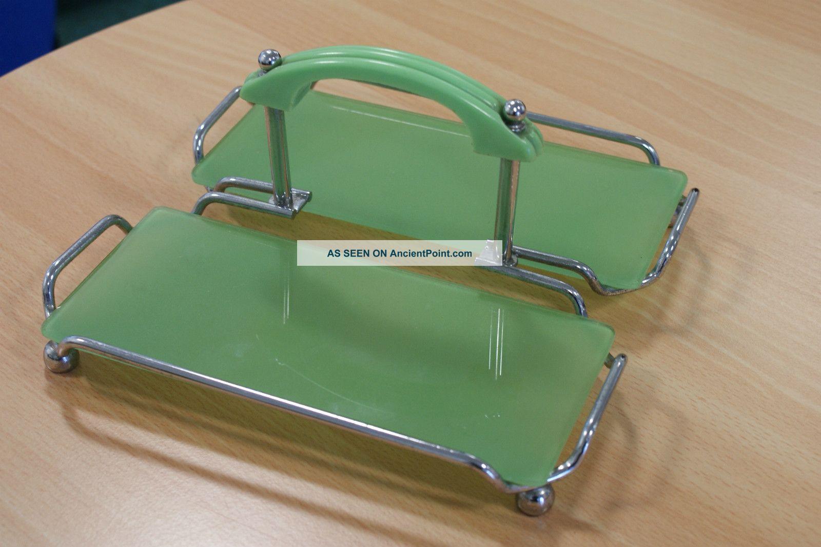 Art Deco Chrome Cake Stand