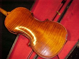 Antique 1800 ' S Violin By Friedrich August Glass Germany Full Size - 4/4 photo