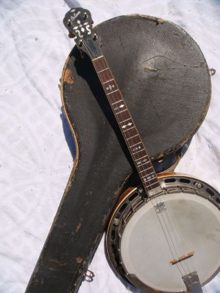 1928 Gibson Mastertone Tb - 3 Tenor 4 String Banjo W Orig Case & Matching Serial photo