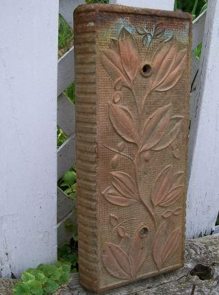 Antique Cast Iron Floral Column Plinth Cover Mercantile Corner Block Salvage photo
