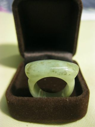 New Sale Chinese Natural Jade Ring /us Size 8.  25 photo