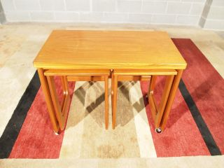 Eames Era Danish Modern Teak Cocktail Coffee Nest Tables A H Mcintosh Scotland photo
