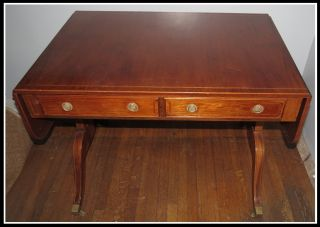 Unusual Georgian Furnishings Co Regency Mahogany Sofa Writing Table photo
