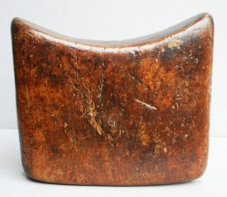 A Very Well Headrest From Ethiopia,  With Very Worn Patina photo