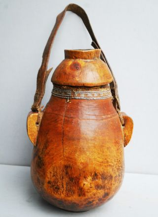 A Wonderfully Patinated Ethiopian Wooden Container With Lid photo