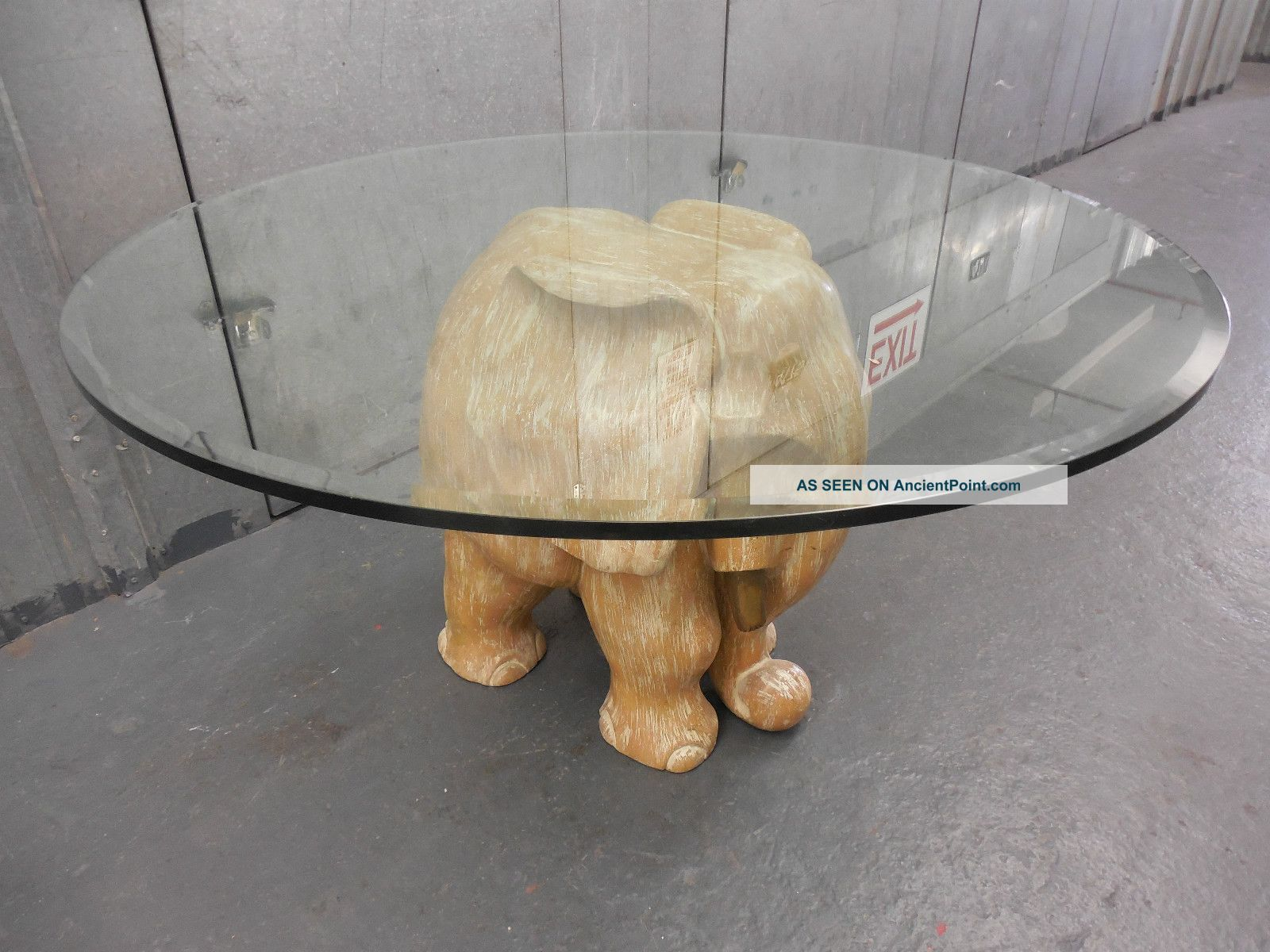 Elephant Table With Gl Top Easy Home Decorating Ideas