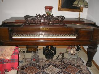 Chickering & Sons Square Grand Piano 26228 Civil War Era Circa 1860 photo