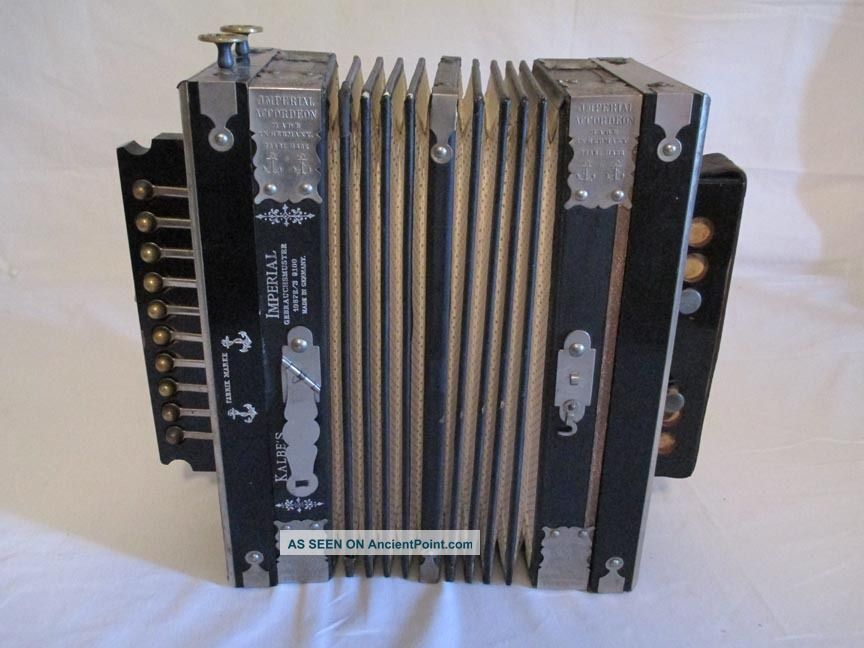 Museum Quality 1890 ' S Kaleb ' S Imperial Accordeon Made In Germany - None Finer Keyboard photo