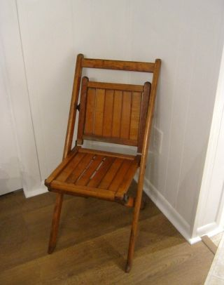 Vintage 1940 ' S Wooden Folding Chair photo