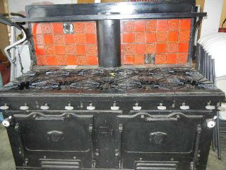 Antique Majestic Commercial Size 10 Burner Range Stove Short Order Dd - 210tt Gas photo
