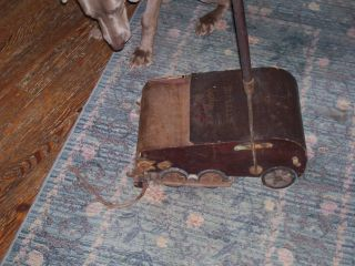 Antique / Vintage Bissell ' S Vacuum Sweeper / Works /walnut Finish / Mechanical photo