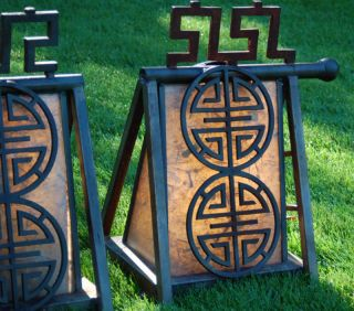 Heavy Vintage Japanese Iron Garden Lamps / Posts photo