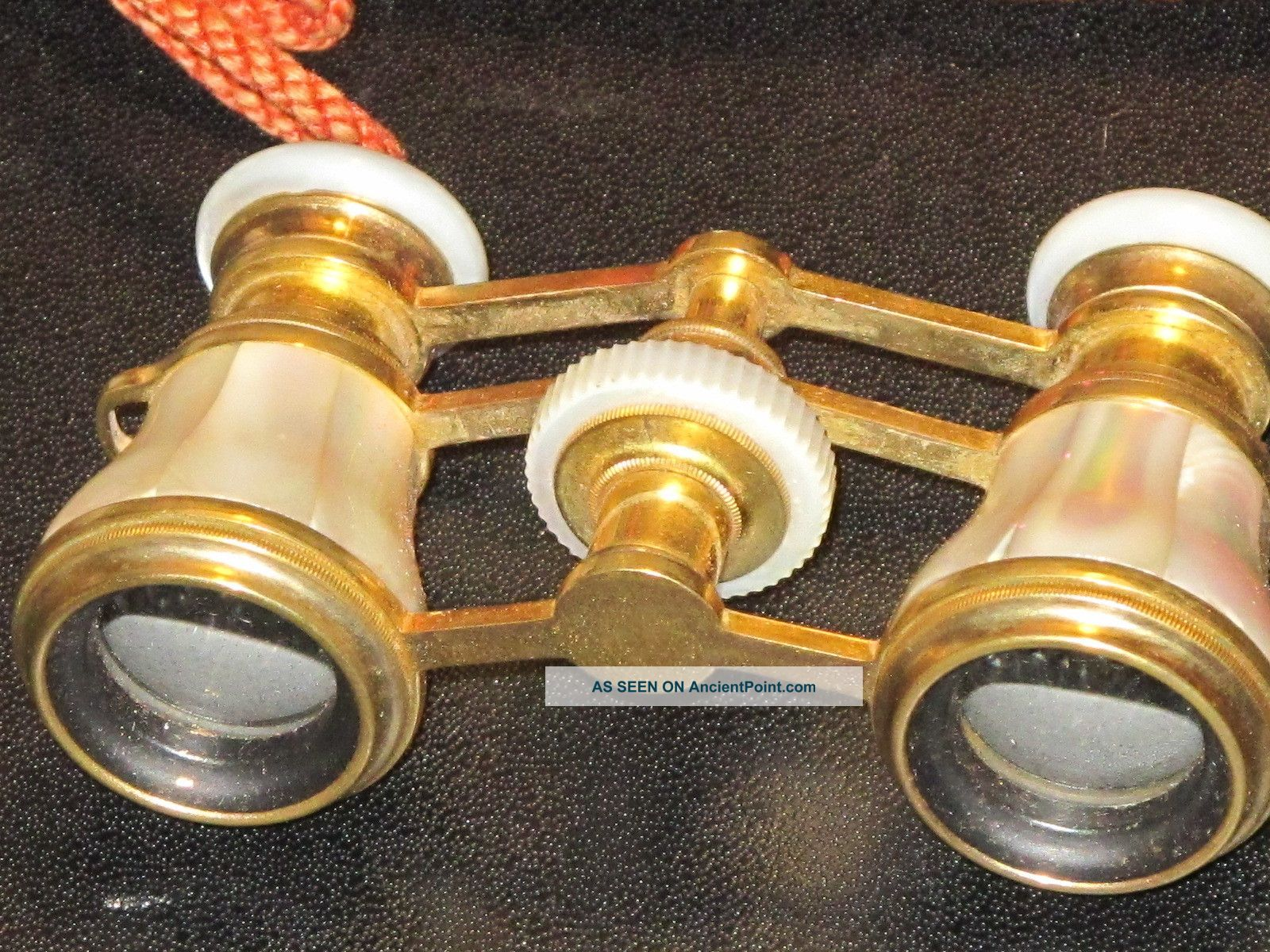 Rare Mint Jumelle Carpentier Opera Glasses Mother Of Pearl Flawless Condition Mc Optical photo