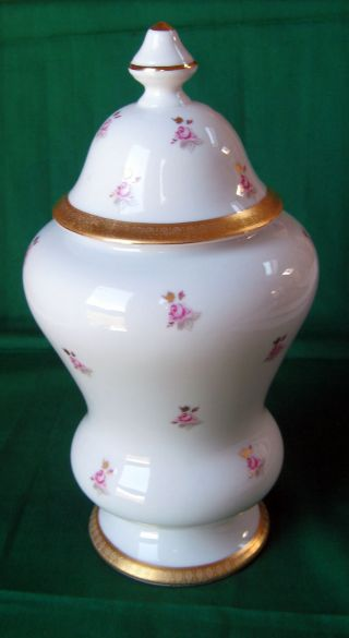 Vintage Rare Limoges Porcelain Large Urn With Cover Made In France photo