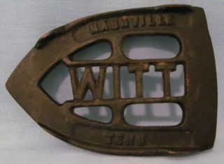 Cast Iron Witt Iron Trivet Rest Hard To Find Three Footed photo
