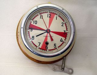 Vintage Ussr Navy Boat/ship Submarine Cabin Radio Deck - House Clock Vostok 8 Days photo