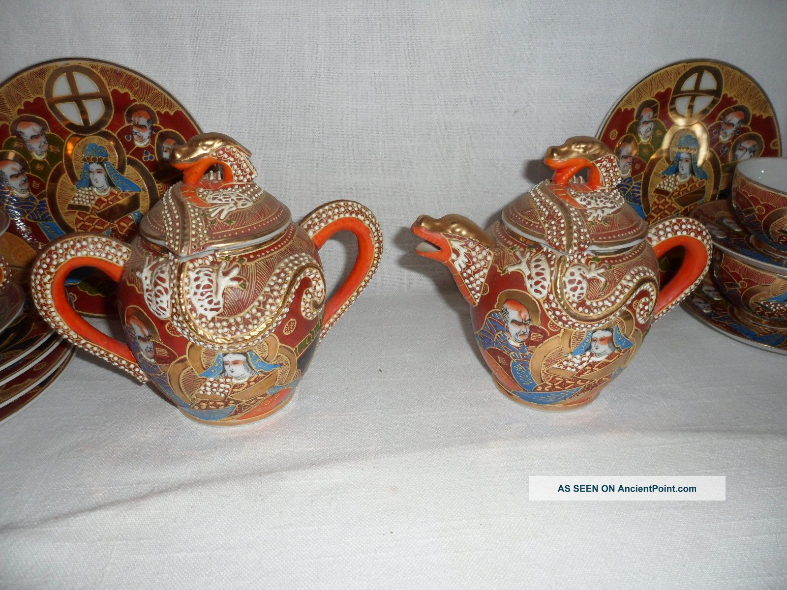 Antique Japanese Tea Sets With Dragon Dragon Ware Tea Set