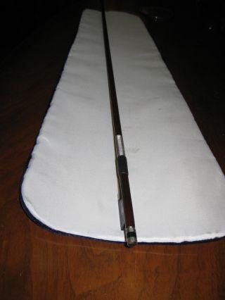Antique Violin Bow Octagonal Stick,  Stamped - H.  R.  Pfretzschner. photo