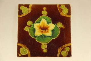Brown And Yellow Flower Tile photo