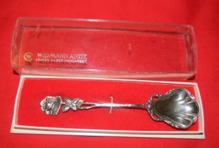 Antique Widmann Antik Echtes Silber Handarbeit 835 German Svr.  Rose Handle Spoon photo