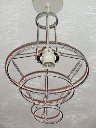 Chandelier Ceiling Light Pendant Frame Chrome No Droplets Crystals Laura Ashley photo