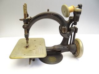 Antique Old Working Willcox & Gibbs Sewing Machine Co Metal Treadle,  Orphan Head photo
