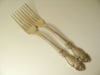 Russian Vintage German Silver Set Of Two Table Forks photo