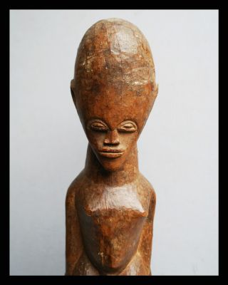 An Otherworldly Tall Thil Figure With Egg Shaped Head,  From Burkina Faso photo