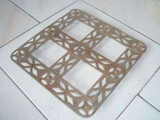 Vintage French Extendable Consertina Metal Trivet Hot Plate photo