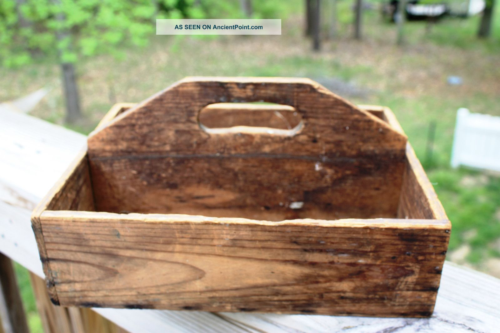 Antique Wooden Tool Caddy