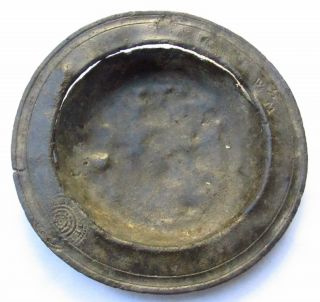 Pewter Spice Dish 16th 17th Century With Pas Paperwork photo