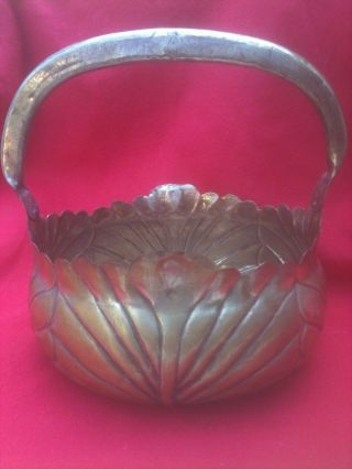 Sale $87 Until 5/12 - Extra Large Antique/vintage Silver Hand - Worked Basket photo