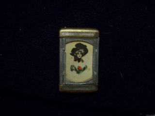 Old Antique Victorian Match Stick Case photo